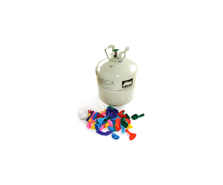 Adams Gas Disposable Helium 50 Fill with Balloons